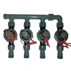 """coll-ez-flo-plus2 - Manifold from 1"""" to 2 areas"""