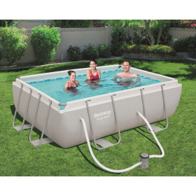 56456 - POWER STEEL RECTANGULAR swimming pool 4.12 xh 1.22 m